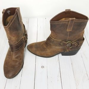 Mossimo Supply Womens Distressed Leather Boots